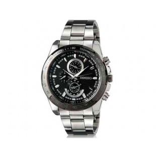 DINIHO 8014G Мужская модная Аналоговый Простой стиль нержавеющей стали наручные часы с функцией календаря и нержавеющей стали Band (черный)