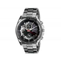 Модные Простой стиль DINIHO 8013G мужские аналоговые наручные часы с нержавеющей стальной лентой (черный)