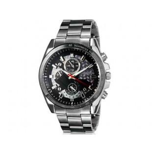 Модные Простой стиль DINIHO 8013G Мужская аналоговые наручные часы с нержавеющей стальной лентой (черный)
