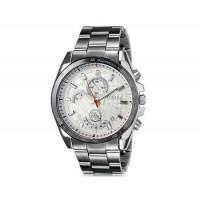 DINIHO 8013G мужские модные Простой стиль аналоговые наручные часы с нержавеющей стальной лентой (белый)