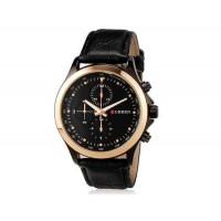 CURREN 8138 мужские модные водостойкой наручные часы с искусственной кожи оркестра (черный)