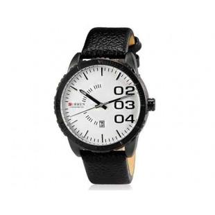 CURREN 8125 Мужская модная водостойкой Аналоговый Большой циферблат Большой цифровые весы наручные часы с функцией календаря и искусственной кожи Band (черный)