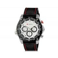 Curren 8146 мужские модные водостойкой наручные часы с Weekly Показать & TPU резинкой (белый)