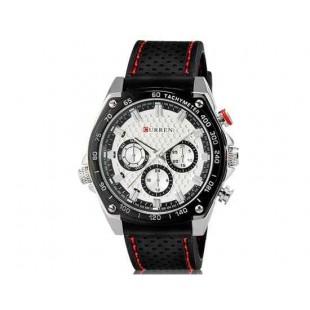 Curren 8146 Мужская модная водостойкой наручные часы с Weekly Показать & TPU резинкой (белый)