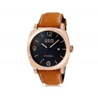 Curren 8158 Мужские водостойкие наручные часы с календарём (Golden)