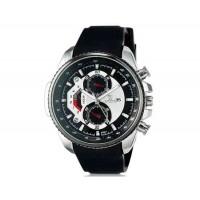 VALIA  8258 мужские модные аналоговые наручные часы с функцией календаря и силиконовой лентой (черный)