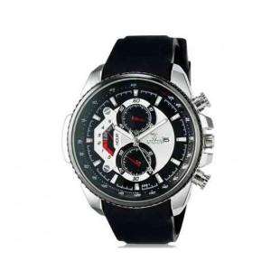 Валя 8258 Мужская модная аналоговые наручные часы с функцией календаря и силиконовой лентой (черный)