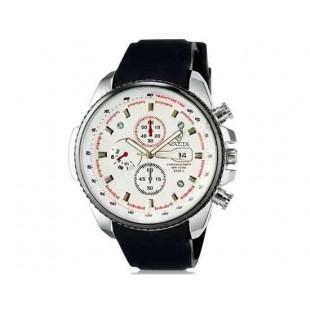 Валя 8258 Мужская модная аналоговые наручные часы с функцией календаря и силиконовой лентой (белый)