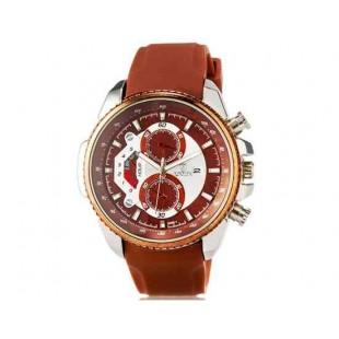 Валя 8258 Мужская модная аналоговые наручные часы с функцией календаря и силиконовой лентой (коричневый)