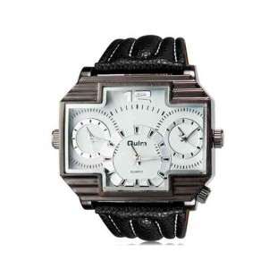 OULM 3296 Мужские Три Движения Япония движение Кварцевые аналоговые наручные часы (белый)