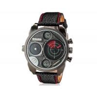 OULM 9316 Мужские двухместные Движения Япония движение Кварцевые аналоговые наручные часы (красный)