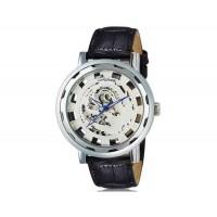 Luckyfamily Потрясающие Phoenix Pattern выдалбливают Дизайн мужские Автоматическая Механическая Водонепроницаемые наручные часы с (серебро)
