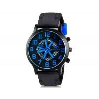 V6 0198 Super Speed мужские модные Большой набор аналоговые наручные часы (синий)