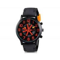 V6 0198 Super Speed мужские модные Большой набор аналоговые наручные часы (красный)