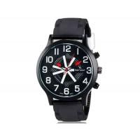 V6 0198 Super Speed мужские модные Большой циферблат аналогового наручные часы (белый)