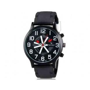 V6 0198 Super Speed Мужская модная Большой циферблат аналогового наручные часы (белый)