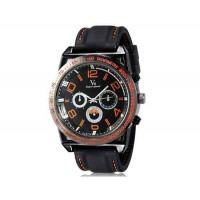 V6 0213 Super Speed мужские Потрясающие Большой цифровые весы 3-Dial аналоговые наручные часы (красный)