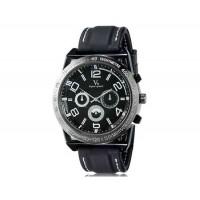V6 0213 Super Speed мужские Потрясающие Большой цифровые весы 3-Dial аналоговые наручные часы (белый)