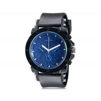 V6 0175 супер скорость мужские Стильный Потрясающая 3-Dial аналоговые наручные часы (синий)