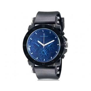 V6 0175 супер скорость Мужская Стильный Потрясающая 3-Dial аналоговые наручные часы (синий)
