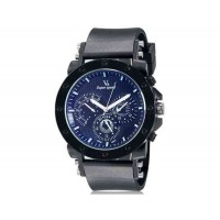V6 0175 Super Speed мужские Стильный Потрясающие 3-Dial аналоговые наручные часы (черный)