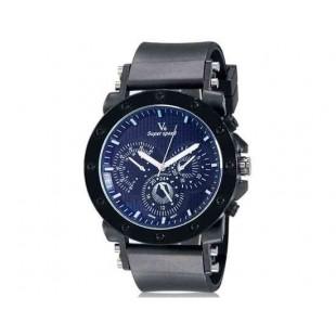 V6 0175 Super Speed Мужская Стильный Потрясающие 3-Dial аналоговые наручные часы (черный)