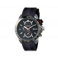 Curren 8148 Мужские модные водостойкой наручные часы с функцией календаря и силиконовой лентой (черный)