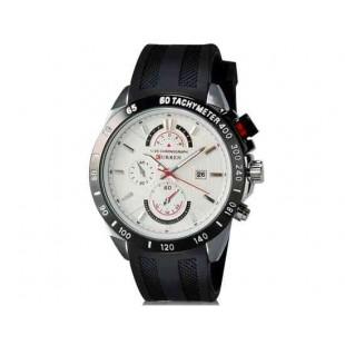 Curren 8148 Мужские модные водостойкой наручные часы с функцией календаря (черный)
