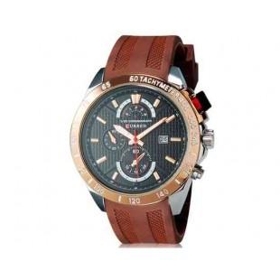 Curren 8148 Мужские модные водостойкой наручные часы с функцией календаря (коричневый)