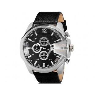 CAGARNY 6839  часы с календарем (черный)