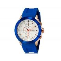 CURREN 8165 мужские аналоговые наручные часы с силиконовой лентой (синий + белый)