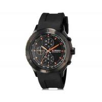 CURREN 8165 мужские аналоговые наручные часы с силиконовой лентой (черный + оранжевый)