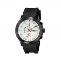 CURREN 8165 мужские аналоговые наручные часы с силиконовой лентой (черный + белый)