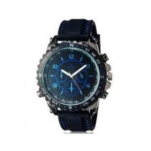 V6 Super Speed V0176 Мужская модная Аналоговый Большой набор наручные часы с силиконовой лентой (синий)