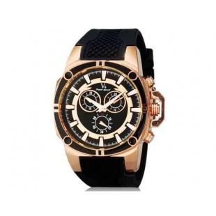 V6 Super Speed V0230 Мужская модная Аналоговый Большой набор наручные часы с силиконовой лентой (черный)