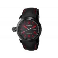 CURREN 8173 Men`s круглый Циферблат аналоговые наручные часы с календарем (черный)
