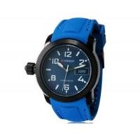 CURREN 8173 Men`s круглый Циферблат аналоговые наручные часы с календарем (синий)