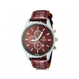 VALIA 8269-1 Men`s модные аналоговые наручные часы с календарем (коричневый)