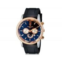 VALIA 8265-1 Men`s Модный крупный Циферблат аналоговые наручные часы с календарем (черный)