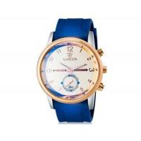 VALIA 8265-2 Men`s Модный крупный Циферблат аналоговые наручные часы без календаря (синий)