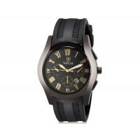 VALIA 8263-1 модные мужские круглый Циферблат аналоговые наручные часы с календарем (черный)