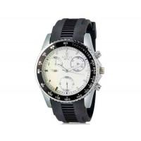 VALIA 8271-2 Men`s Модный большой круглый Циферблат аналоговые наручные часы без календаря (черный+белый)