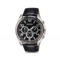 DINIHO 8013G мужские модные Круглый циферблат аналогового наручные часы с PU Группа