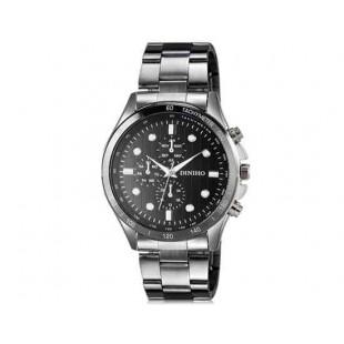 DINIHO 8011G Мужская модная Круглый циферблат аналогового наручные часы с нержавеющей стальной лентой