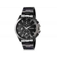 DINIHO 8015G мужские модные Круглый циферблат аналогового наручные часы с нержавеющей стальной лентой