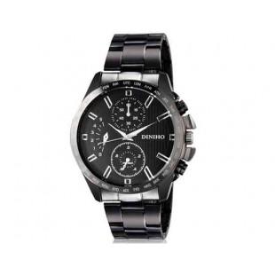 DINIHO 8015G Мужская модная Круглый циферблат аналогового наручные часы с нержавеющей стальной лентой