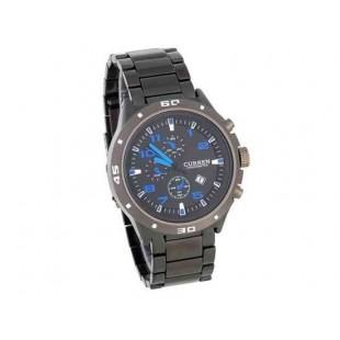 CURREN 8021 наручные часы с календарем (синий)