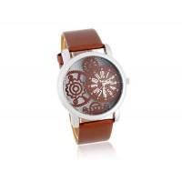 Valiia мужские полосы Дизайн Аналоговые часы (коричневый)