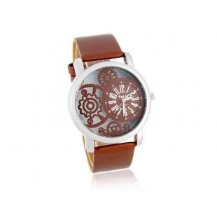 Valiia Мужская полосы Дизайн Аналоговые часы (коричневый)