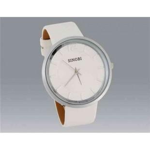 SINOBI 9392 Водонепроницаемые стильные часы (белый)